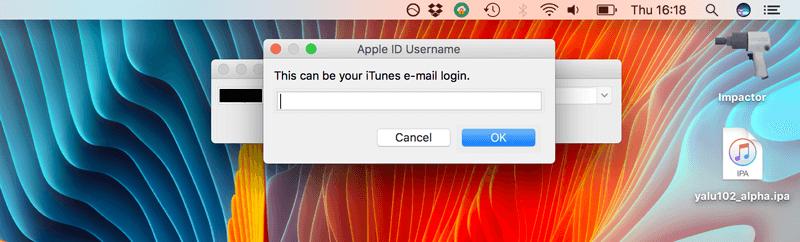 درخواست Apple توسط برنامه Cydia Impactor