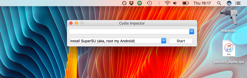 اجرای برنامه Cydia Impactor