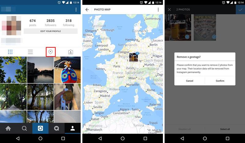 جلوگیری از هک اینستاگرام با حذف لوکیشن از تصاویر