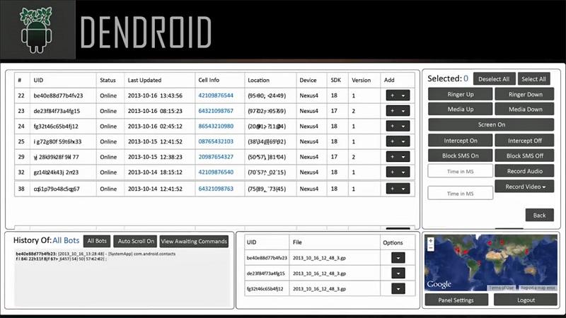 هک گوشی از طریق رات با استفاده از برنامه Dendroid