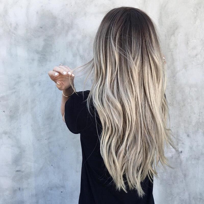 رنگ موی بلوند دودی
