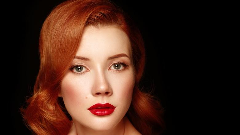 رنگ موی قرمز گرم