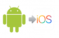Transfer data from android to iOS with Move To iOS application