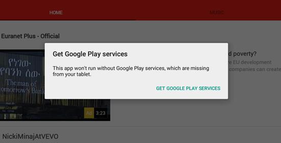 خطای گوگل پلی سرویس