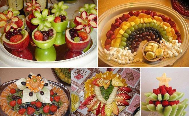 تزیین چندین میوه برای سفره شب یلدا