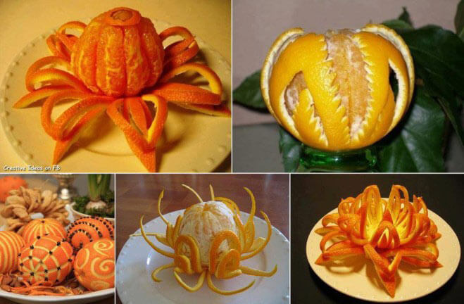 تزیین نارنگی و پرتقال برای شب یلدا