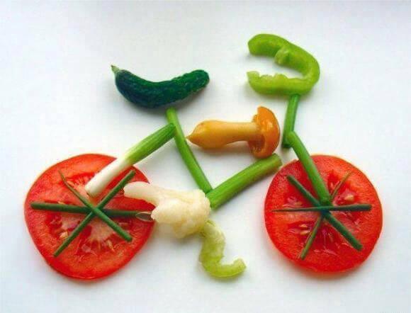 طراحی یک دوچرخه با سبزیجات برای ویژه کودکان