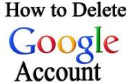 حذف اکانت گوگل و جیمیل و مراحل پاک کردن Google Account به صورت تصویری