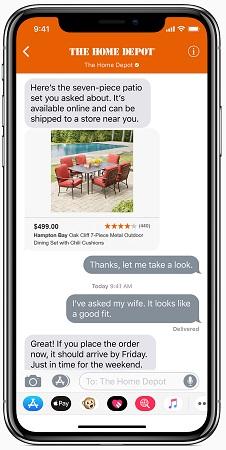 بخش Business chat در ios 11.3