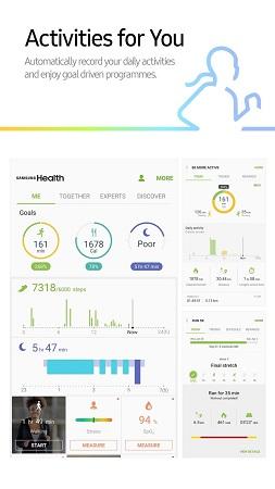 شروع تمرین با samsung health