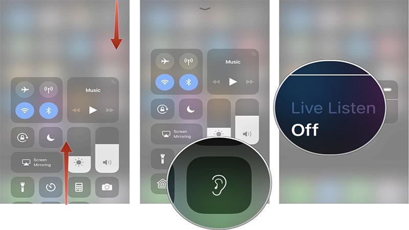 فعال کردن ویژگی زنده گوش دادن اپل