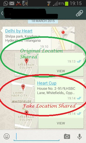 How to Send Fake Location on Whatsapp Messenger