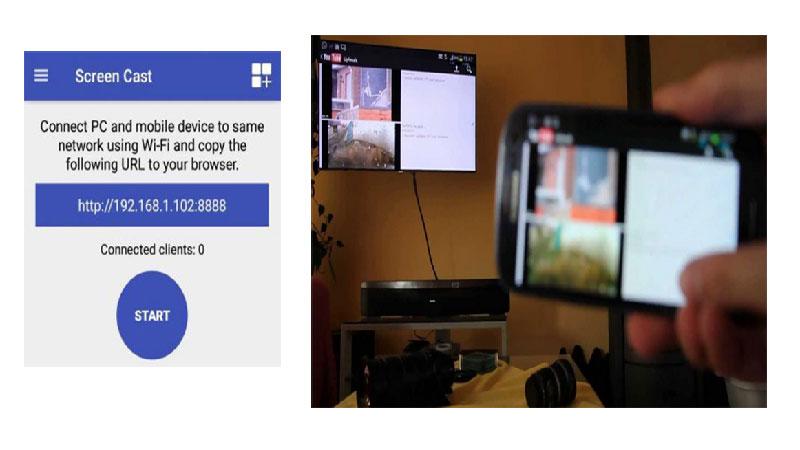 انتقال تصاویر از گوشی به تلویزیون