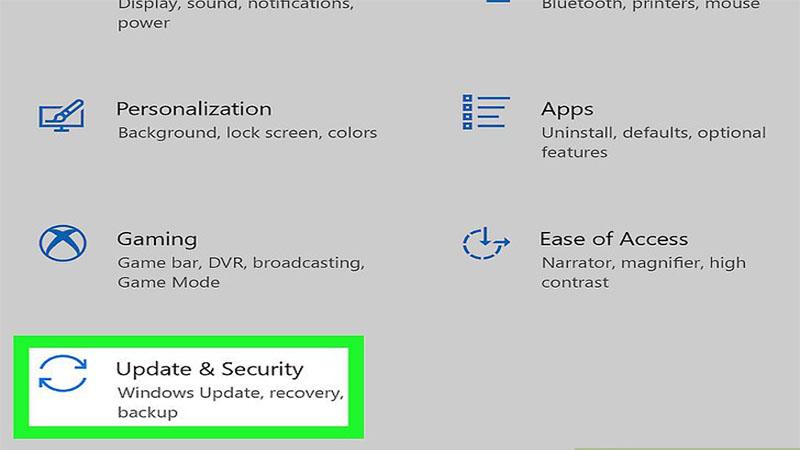 به روز رسانی و امنیت در ویندوز 10