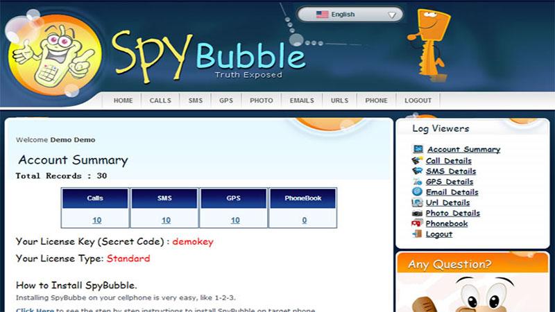 Spybubble برای ردیابی گوشی اپل