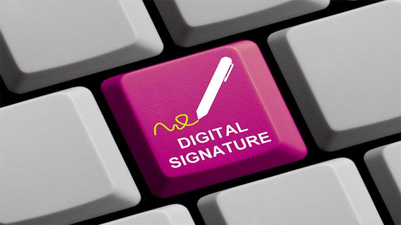 امضای دیجیتال در برابر امضای الکترونیکی