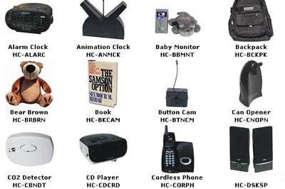 دوربین های جاسوسی مخفی در لوازم مختلف